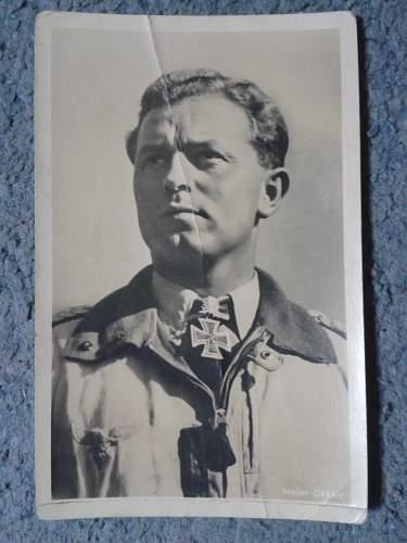 Luftwaffe Oberst Walter Oesau Postcard