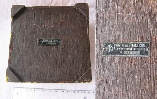 Nationalsozialistische Volkswohlfahrt Helga Goebbels organization? box from Grudnik,Rudziądz-Rudnick youth camp