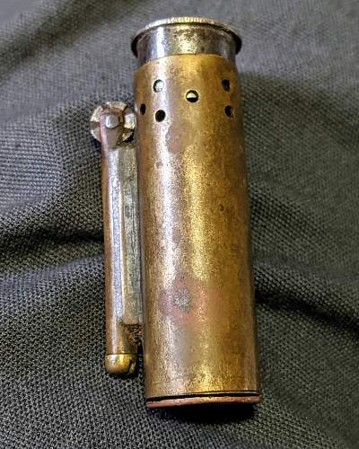 Trench lighter - with Russian coin