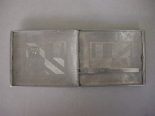 Cigarette case made by German POW for a British ATS girl