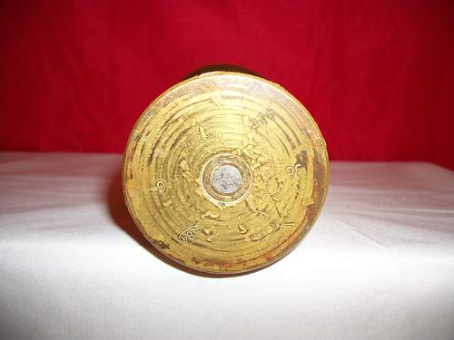 WWII German Trench art Artillery shell casing---Opinions please