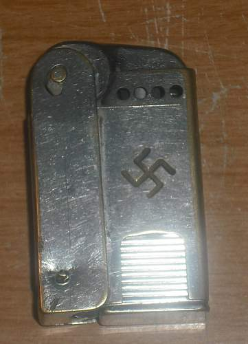 WWII German REGENS cigarette LIGHTER TCW Trench Art??  Rare??