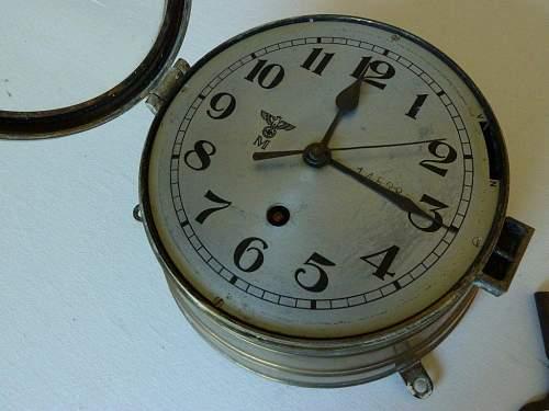 Kriegsmarine U Boat / ships Clock WW11