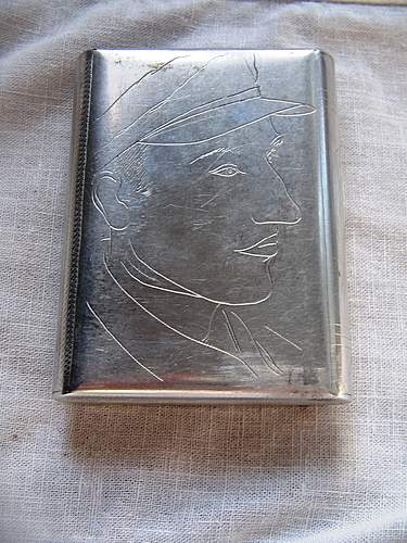 Cigarette case mady by German POW in Soviet POW camp