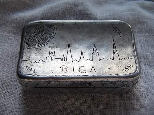 Cigarette case mady by German POW in Soviet POW camp