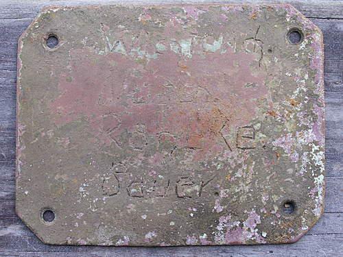 """4 German names on bunker """"door sign"""""""