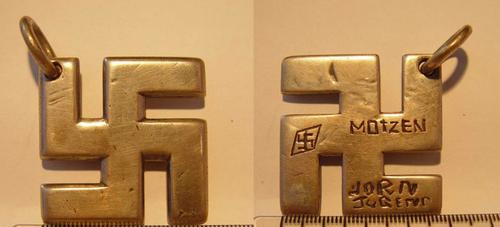 Silver Swastika Found Metal Detecting
