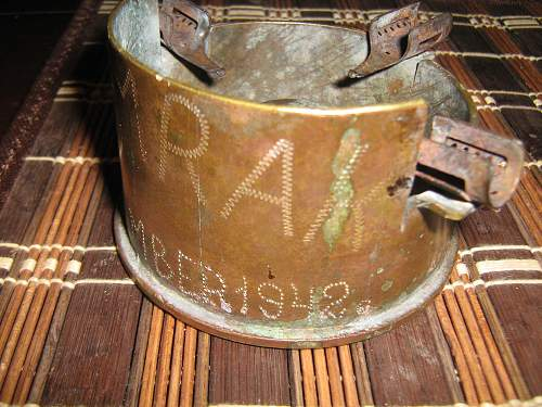 2 interesting items of trench art