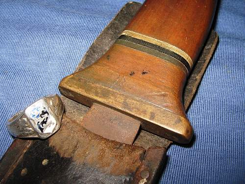 Trench art knife made by Estonian soldier