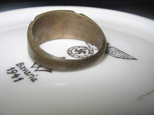 German trench art ring (probably 1944 made)