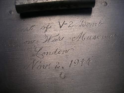 V-2 Rocket Bomb Cigarette Box