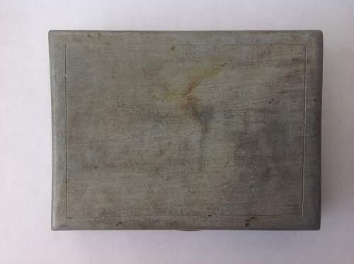 Trench Art Cigarette Case 1944