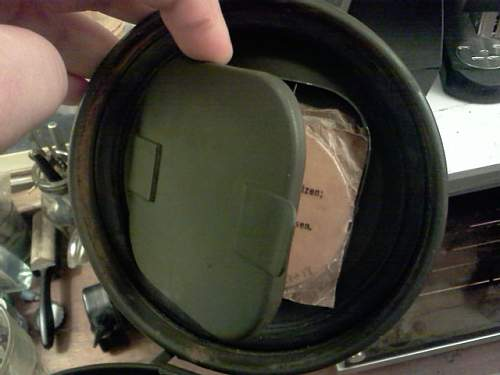 M 38 canister  small strap & spare lenses