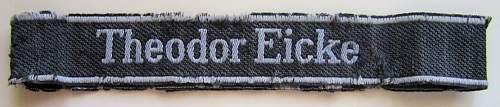 Theodor Eicke bevo cuff title