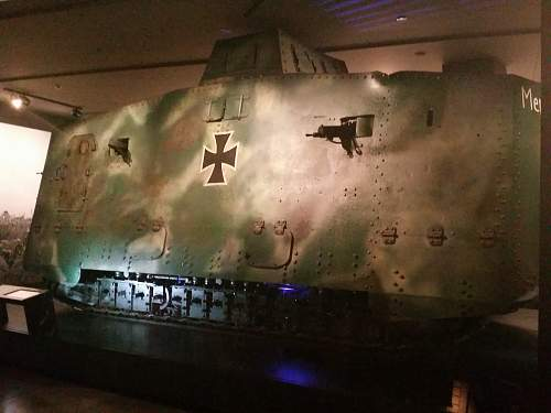 """WW1 German tank """"Mephisto"""" now located at the Australian war memorial Canberra"""