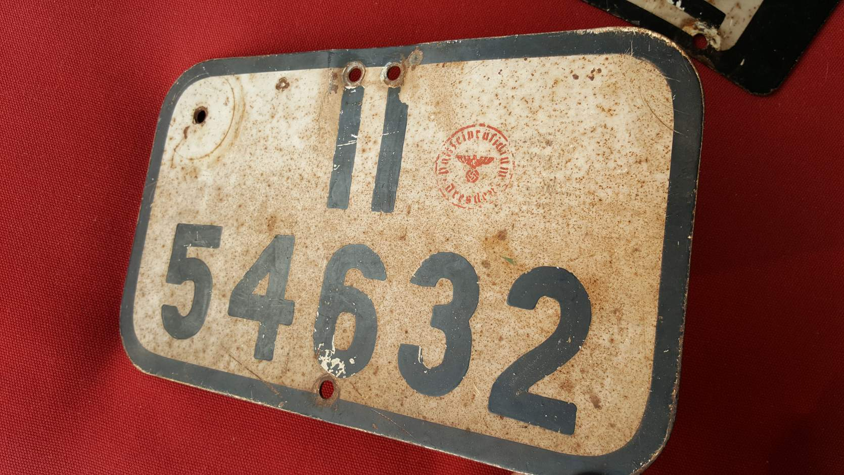 Dresden motorcycle police plates WWII