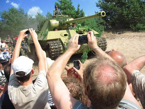 Replica Panther tank built in Poland