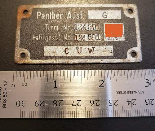 Panther Tank ID Plate?