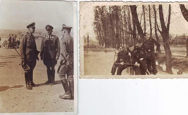 M/cycle pic & Panzer crew pic
