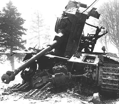 Destroyed Panzer Mk IV