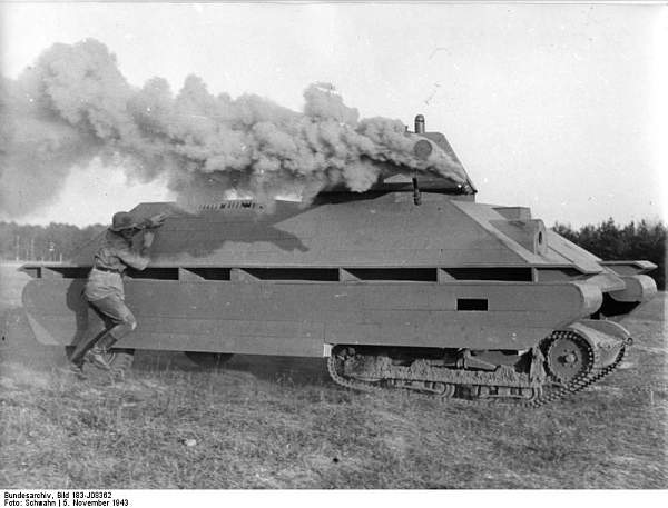 German wooden training mock-up of a T34