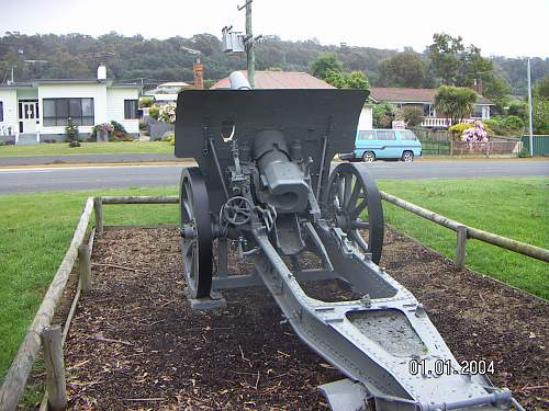 Tasmanian based WW1 German field pieces