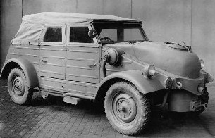 German staff car with weird tanks on front end?