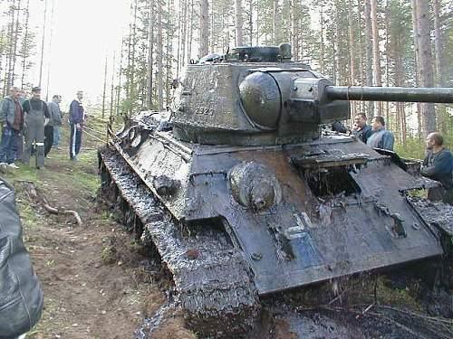 German re-issued T-34 Soviet Russian tank