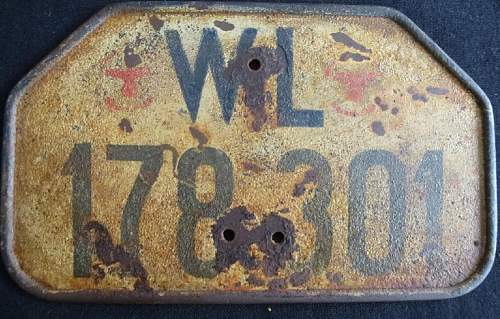 WH Motorcycle license plates