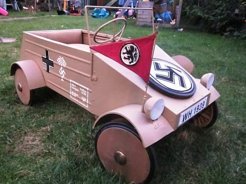 Childs Kubelwagen peddle car !