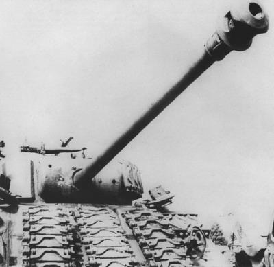 "Captured British Sherman ""Firefly"" in German service"