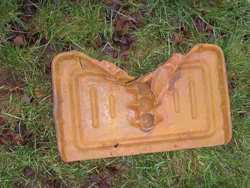 Plate of mortar