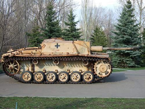 Stug 40 recovery in Russia