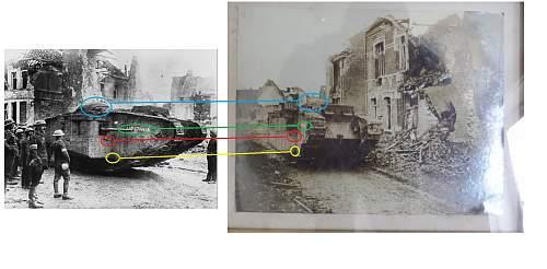 Interesting ww1 British tank photo
