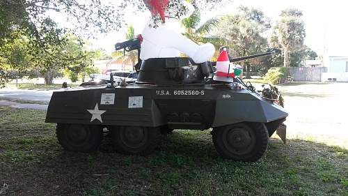 Merry Christmas! 1943 M8 Armored Scout Car