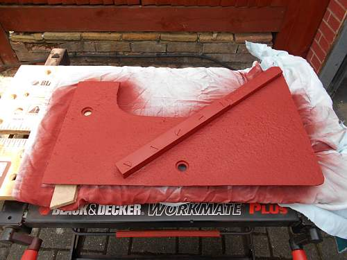 Click image for larger version.  Name:StuG III 2nd Plate Guide Rail Top Primer1.jpg Views:81 Size:138.9 KB ID:835441
