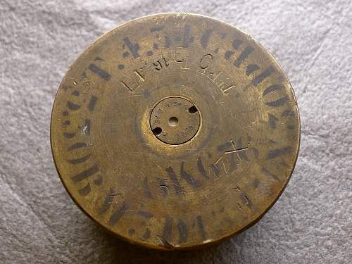 French WWI 75mm canon shell? Any WWI ordnance/inscription experts?