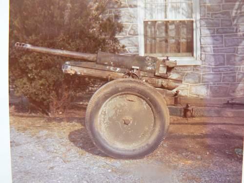 Anti tank gun identified