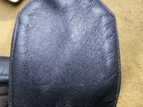 Pre war leather tankist protective helmet