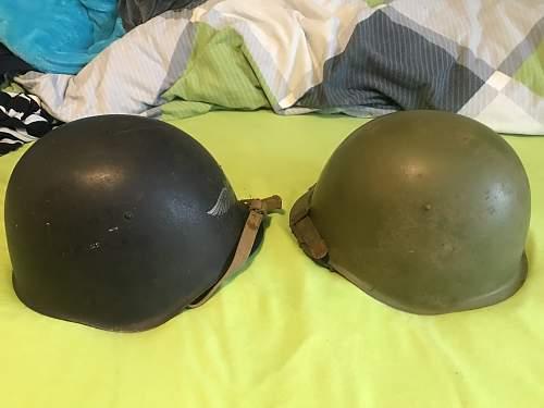 My two original SSH-39 helmets size 2 one Luftschutz one normal