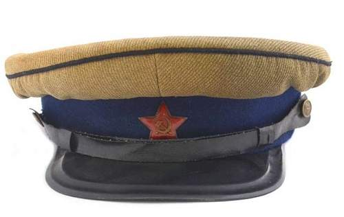 Need help concerning ww2 soviet cavalry officer's visor cap