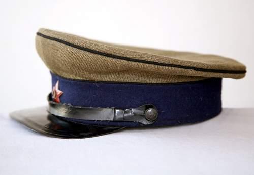 Need help concerning ww2 soviet cavalry officer's visor cap