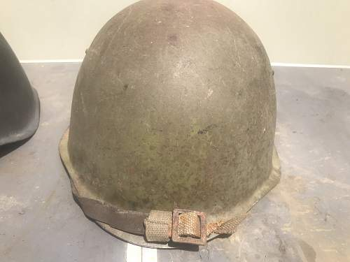 SSH-39 with fieldrepaired chinstrap