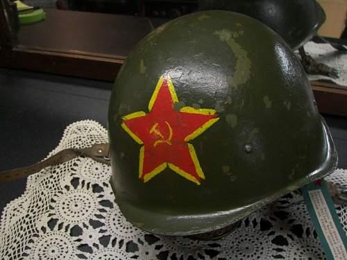 Post-War helmet with paint