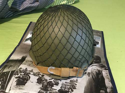 Soviet SSH-40 helmet from 1948 with WW2 parts