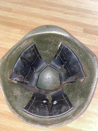 "Post War Ssh40 Helmet ""combat"""