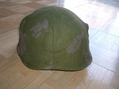Helmet with Camo Cover