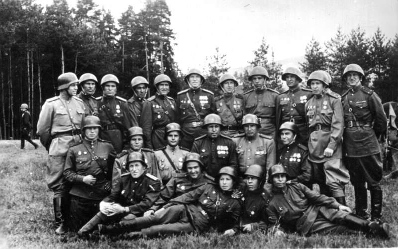 German helmets re-issued by Red Army