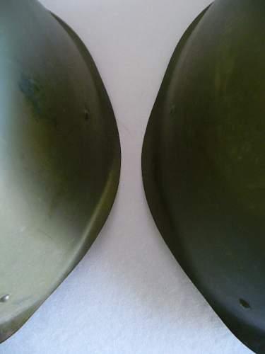 two m40 helmets.