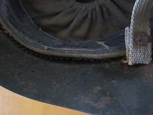 Garage sale find in Finland, complete untouched 1938 Russian steel helmet :)